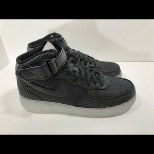 Nike Air Force 1 Mid '07 LV8 Black 804609 005 Mens NWT